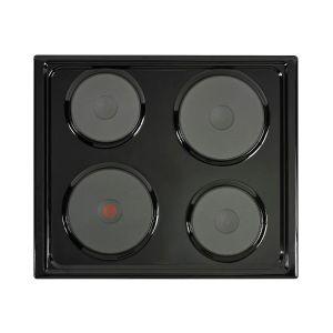 Defy 60cm Black Solid Electric Hob - DHD332