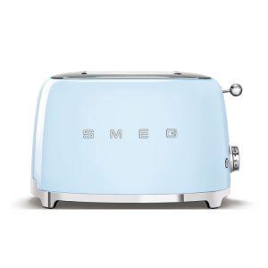 Smeg Pastel Blue 50's Retro Style 2 Slice Toaster - TSF01PBSA