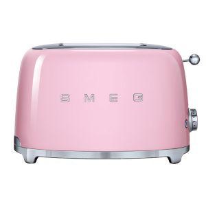 Smeg Pink 50's Retro Style 2 Slice Toaster - TSF01PKEU
