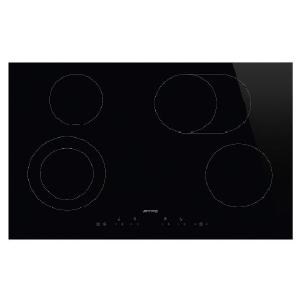 Smeg 77cm Ceramic Black Glass Hob - SE384EMTD