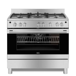 AEG 90cm Stainless Steel Gas Stove - 10369GN-MN