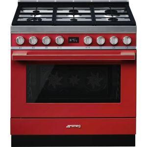 Smeg 90cm Red Portofino Gas Stove - CPF9GMR