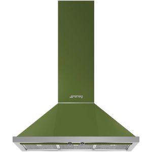 Smeg 90cm Olive Green Portofino Wall Mount Extractor Hood - KPF90G