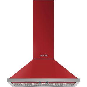 Smeg 90cm Fiery Red Portofino Extractor Hood - KPF9RD