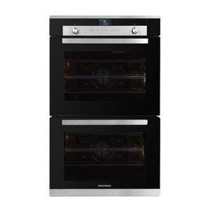 Grundig 70cm Black Multifunction Double Oven - GEDM36000B