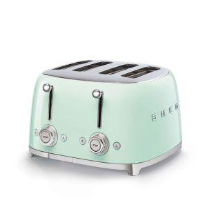Smeg 4 Slice Pastel Green 50's Retro Style Toaster - TSF03PGSA