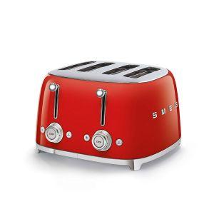 Smeg 4 Slice Fiery Red 50's Retro Style Toaster - TSF03RDSA