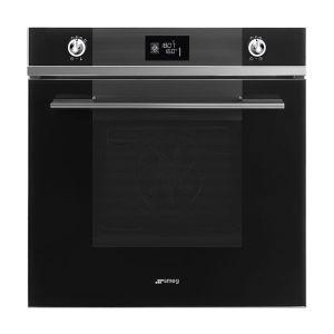 Smeg 60cm Black Glass Linea Oven - SF6102TVN