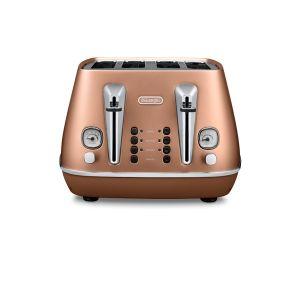Delonghi Distinta 4 slice Toaster (Copper) - CTI4003CP