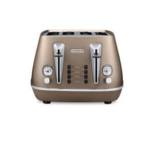 Delonghi Distinta 4 slice Toaster (Bronze) - CTI4003BZ