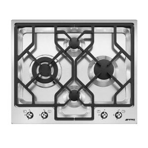 Smeg 60cm Stainless Steel Ultra Low Profile Gas Hob - PGF64SA