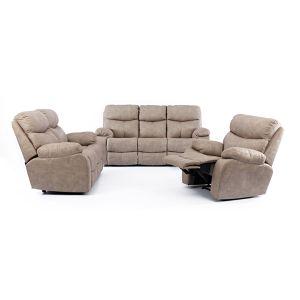 Oregan Addo Taupe 5 Motion Fabric Lounge Suite