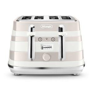 DeLonghi Avvolta 4 Slice Toaster (White) - CTAC4003.W