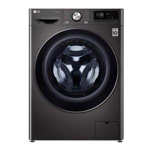 LG 12kg Black Stainless Steel Front Loader Washing Machine - F4V9BWP2E