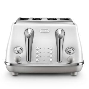Delonghi Icona Capitals 4 Slice Toaster - CTOC4003.W