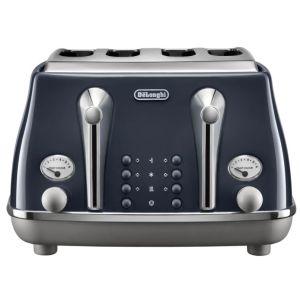 Delonghi Icona Blue 4 slice Toaster - CTOC4003.BL