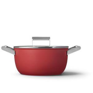Smeg 24cm Red 50's Style Casserole - CKFC2411RDM