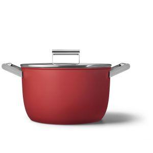 Smeg 26cm Red 50's Style Casserole - CKFC2611RDM