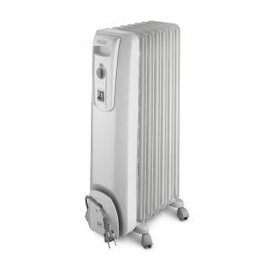 Delonghi 7 Fin White Oil Heater - KH770715