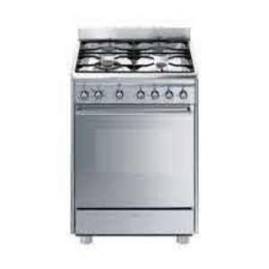 Smeg 60cm Stainless Steel Gas/Electric Stove - SSA60MX9 + Free Whistling Kettle (5083NC)