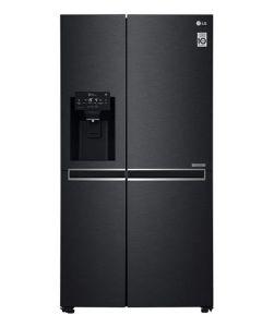 LG 668L Matt Black Side By Side Fridge with Door-In-Door - GC-J247CQBV