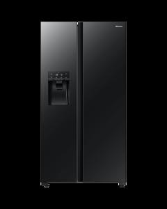 Hisense - 535L Black Glass Side by Side Fridge -  H700SMI-IDL